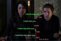 i melinda may dare you || Melinda May, Leo Fitz || Agents of Frickle Frackle || #fanedit #humor