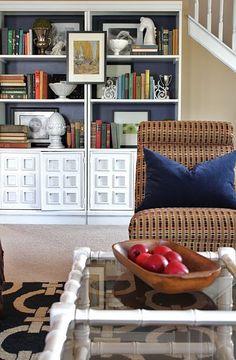 bookcase arrangement