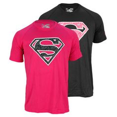 Because real men will wear pink. This Under Armour Men's Alter Ego Power in Pink Superman Tee is a great way to show your support for cancer research. The Power in Pink campaign celebrates women who use an active lifestyle in the fight against breast cancer, and Under Armour will donate a minimum of $500,000 to breast cancer centers and charities.