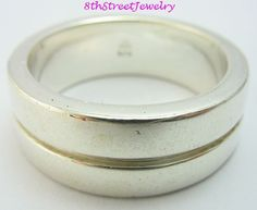 RETIRED Silpada R0359 Sterling Silver 925 Grooved Unisex Band Ring Size 11.75 #Silpada #Band