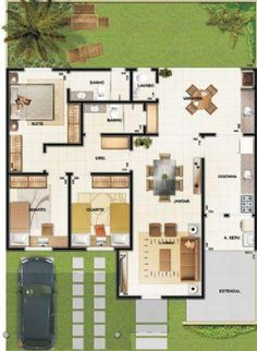 pixeles - Home Projects We Love House Layout Plans, Floor Plan Layout, Dream House Plans, Small House Plans, House Floor Plans, My Dream Home, Layouts Casa, House Layouts, Home Design Plans