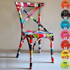 chair redesign with Scotch Colors and Patterns Duct Tape