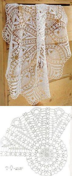 crocheted tablecloth...<3 Deniz <3