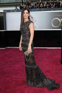 Sandra Bullock - Oscar 2013   que vestido mais lindo!