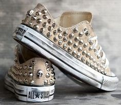 studded Converse sneakers-These remind me of a tap dance routine, if only they were purple.