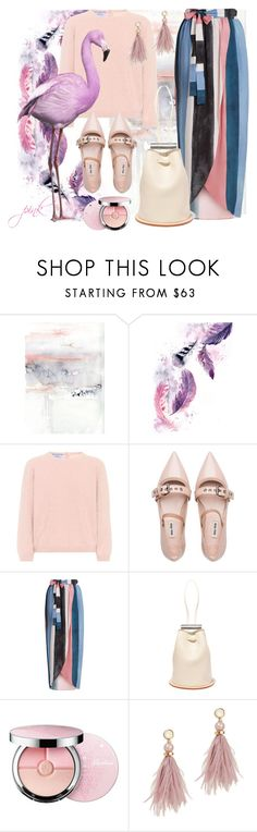 """05.02.18"" by transtetik ❤ liked on Polyvore featuring Prada, Miu Miu, Mara Hoffman, Building Block, Guerlain, Lizzie Fortunato and Pink"