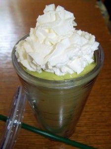 Mocafe Green Tea Latte with Mangos!