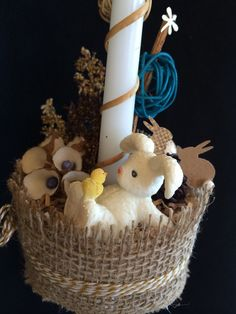 Items similar to All boy candle, collection 2015 on Etsy Palm Sunday, Christening, Bunny, Basket, Candles, Bird, Creative, Handmade Gifts, Etsy