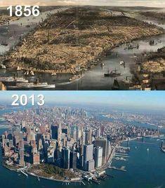 NYC, Lower Manhattan 1856 - 2013 - Hamdi Demir - #Demir #Hamdi #Manhattan #NYC - NYC, Lower Manhattan 1856 - 2013 - Hamdi Demir