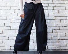 OFF Extravagant Black Pants/Loose Casual Pants/Comfortable Drop Crotch Pants/Oversize Harem Pants/Wide Leg Hippie Pants Black Linen Pants, Black Harem Pants, Black Capris, Linen Trousers, Black Maxi, Maxi Noir, Maxi Pants, Pantalon Large, Style Casual