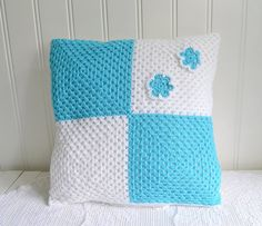 Granny square cushion cover crochet granny by GrannyHannasCottage
