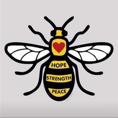 A SIGNAGE business is joining the bee movement, which has sprung up in the wake of the Manchester Arena attack.p to hose who lost there lives during the manchester attack Bee Tattoo Manchester, Manchester Attack, Manchester Art, Bee Rocks, 3d Pen, Bee Art, Bee Design, Save The Bees, Tattoos