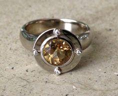 @Arcatus jewelry. Yellow Topaz Engagement Ring