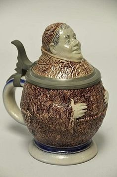 Buy online, view images and see past prices for Hauber and Reuther Figural Monk Stein. Invaluable is the world's largest marketplace for art, antiques, and collectibles. Earthenware, Stoneware, Antique Pottery, Beer Stein, Vintage Cups, Clay Sculptures, My Cup Of Tea, Terracotta, Tea Pots