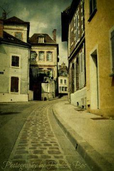 Joigny, Bourgogne, France.  rue d'Etape.  Photography by Paulina Bos  http://www.flickriver.com/photos/goosegoddesss/ Paternal ancestry