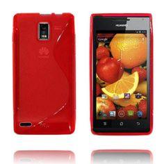 Transparent S-Line (Rød) Huawei Ascend P1 Deksel