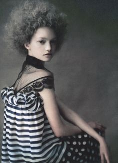 Gemma Ward in 'Painted Ladies' by Paolo Roversi for W magazine April 2004