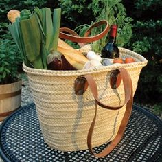 French Market Basket with Double Handles (12x18, 40$)