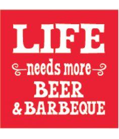Beer & BBQ Beverage Napkins #Barbecue