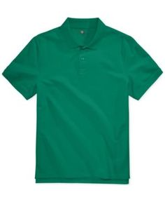 Club Room Men's Anson Pique Polo, Only at Macy's - Green 3XL