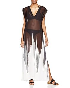Carmen Marc Valvo Maxi Dress Swim Cover Up