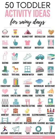 50 Toddler Activity Ideas for Rainy Days