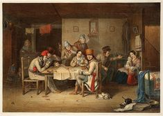 "Vie au Québec | Cornelius Krieghoff's ""French Canadian Habitans Playing at Cards"" (1848) 