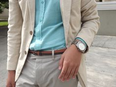 Favorite accessories 1: double belt, and golden watch