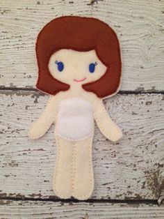 Felt Dress Up Doll Unpaper Doll Felt Doll by TwoSistersBazaar