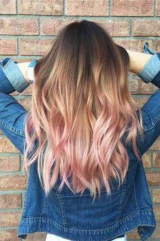 34 Best Winter Hair Colors to Rock This Season Stylishly - Trendy Ombre Hairstyles that Make Your Hair Shine Picture 3 - Brown Ombre Hair, Ombre Hair Color, Cool Hair Color, Hair Colour, Ombre Rose, Spring Hairstyles, Cool Hairstyles, Cabelo Rose Gold, Hidden Hair Color