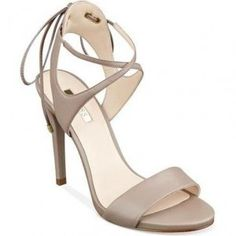 Guess Christa Lace-Up Sandals in Taupe