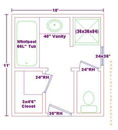Master Bathroom Design Layout Fullmaster Bath X Free Floor Plan ...