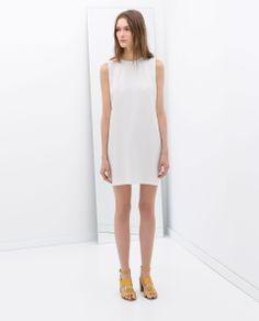 VESTIDO MANGA SISA de Zara. White dress. Spring . Summer