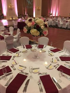 Quince Decorations, Quinceanera Decorations, Wedding Reception Decorations, Wedding Themes, Wedding Centerpieces, Wedding Table, Wedding Colors, Wedding Flowers, Pink And Burgundy Wedding