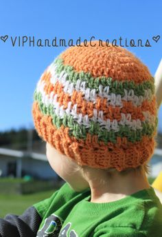 Leaping Stripes Beanie  Crochet Beanie  by VIPHandmadeCreations, $18.00