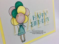 Donemark Papercrafts Large LettersStamping Up CardsBirthday