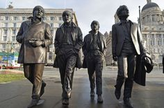 Liverpool's latest tribute to the Beatles is unveiled on the Pier Head