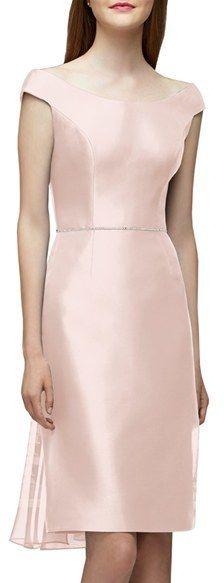 Women's Lela Rose Bridesmaid Embellished Waist Flare Back Dress  https://api.shopstyle.com/action/apiVisitRetailer?id=516589022&pid=uid2500-37484350-28