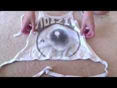 DIY halter tops from old shirts Sewing Crafts, Sewing Projects, Diy Crafts, Diy Crop Top, Crop Tops, Diy Tops, Old Shirts, Rave Outfits, Textiles