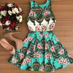 """HOST PICKFloral A-Line Dress Gorgeous floral A-line Mini dress. Perfect for spring & summer! Available in  S, M, L. Size chart: (Small - bust 33"""", waist 25"""", hips 35"""", length 30"""", shoulder width 14""""), Medium (bust 35"""", waist 27"""", hips 38"""", length 31"""", shoulder width 15""""), Large (bust 38"""", waist 29"""", hips 40"""", length 32"""", shoulder width 15""""). Please do not purchase from this listing - comment and I will create a listing for you!     *Selected as a Host Pick for Best Dressed Party on 2/16…"""