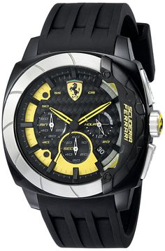 Ferrari Men's 830206 Aerodinamico Analog Display Quartz Black Watch