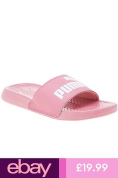 b2b639dd683679 New Womens Puma Pink Pop Cat Pu Sandals Flats Slip On