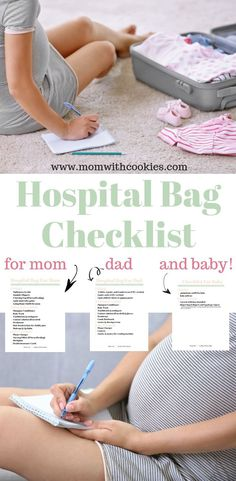 Have you packed your hospital bag? If not, this hospital bag checklist is for you! It covers everything you will need for mom, dad, and also baby. Baby Boys, Baby Momma, Baby Kicking, After Baby, Pregnant Mom, All Family, First Time Moms, Baby Needs, Baby Hacks