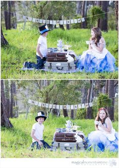 A Mad Hatter's Tea Party {featuring some gorgeous kids} Mad Hatter Tea, Children Photography, Tea Party, Garland, Playing Cards, Tulle, Table Decorations, Cape Town, Kids