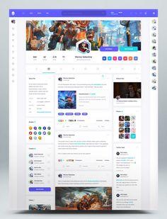 Social Community Website HTML Template Profile Website, Website Header, Website Design Layout, Web Layout, Social Web, Html Website Templates, App Design Inspiration, Ui Web, Dashboard Design