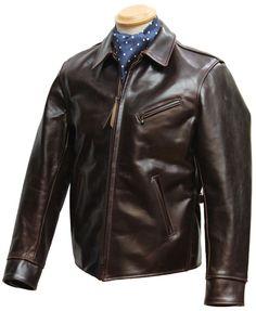 Halfbelt Slim Fit leather jacket - Aero Leathers, UK.