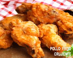 pollo americano frito y crujiente