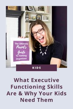 In this post, I giving you an overview of the 7 main executive functioning skills, what they are, and why your kids need them. #organizedkids #lifeskills Small Playroom, Toddler Playroom, Kids Bedroom Organization, Executive Functioning, Family Organizer, Life Skills, Getting Organized, Teaching Kids, Decluttering