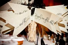 """... and they lived happily ever after"" flags. Photography by jennyevelynphoto.com"