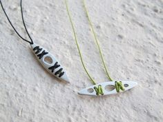 sea kayaking necklace, silver by Vero Lázár, Sea kayak, sport jewelry, for kayakers and sea lovers! Handmade. You can have it if you order it from Vero's webshop.
